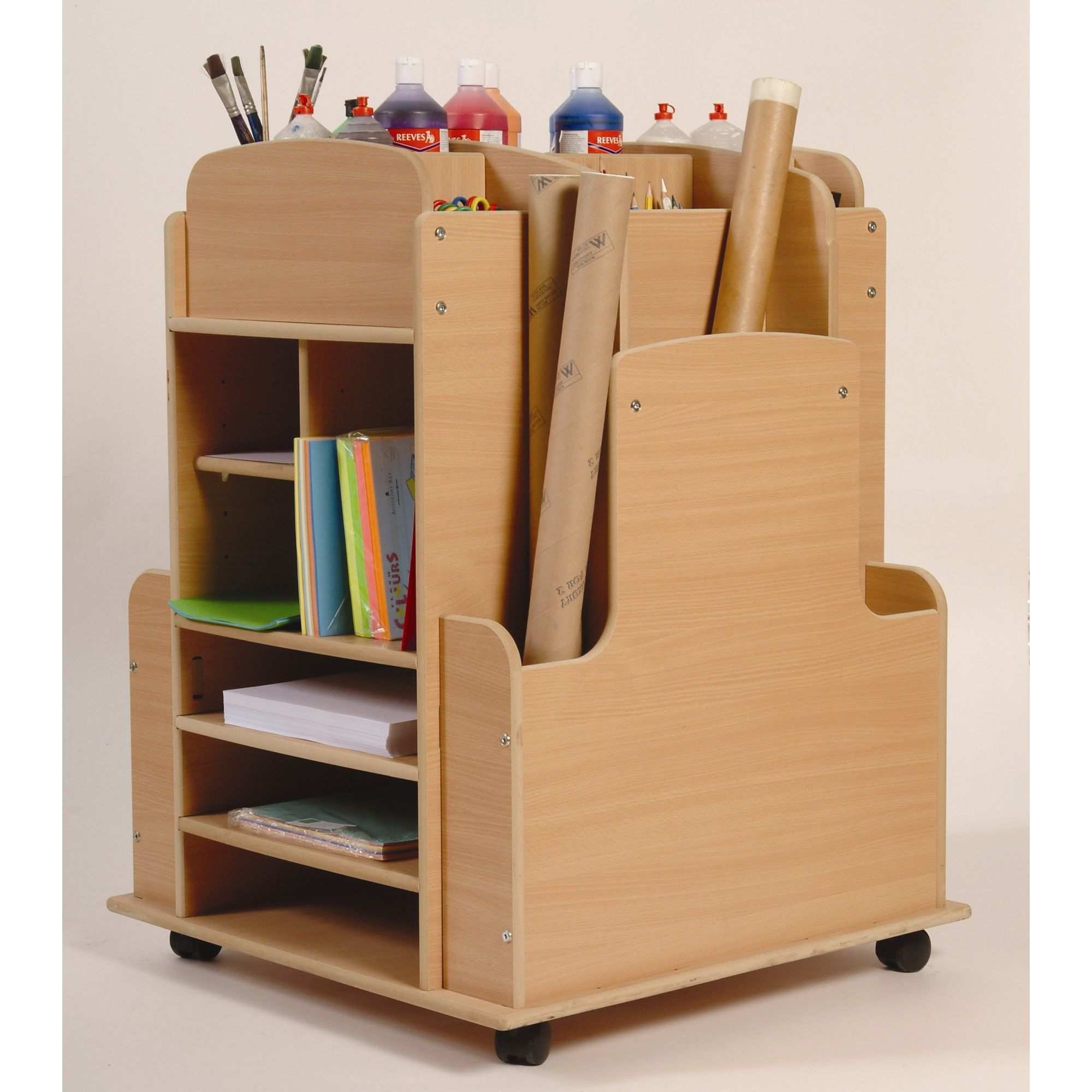 Twoey Toys Art Storage Trolley at Tesco Direct