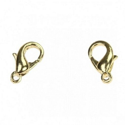Lobster Clasp - Gold 12mm - 20 Pack