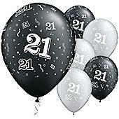 11' 21st Around Black & Silver (25pk)