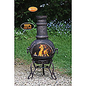 Medium Toledo Grapes Bronze Chimenea With BBQ Grill