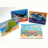 Traditional wood 'n' fun 9 pc Wooden Ocean Puzzle 2yrs+ - Dolphin