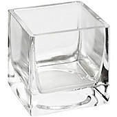 Hill Interiors Small Glass Square Tealight Holder