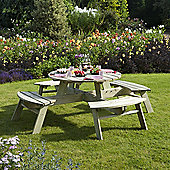 Rowlinson Wooden Round Picnic Table