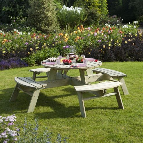 Picnic Tables Ireland Wooden Round Picnic Table