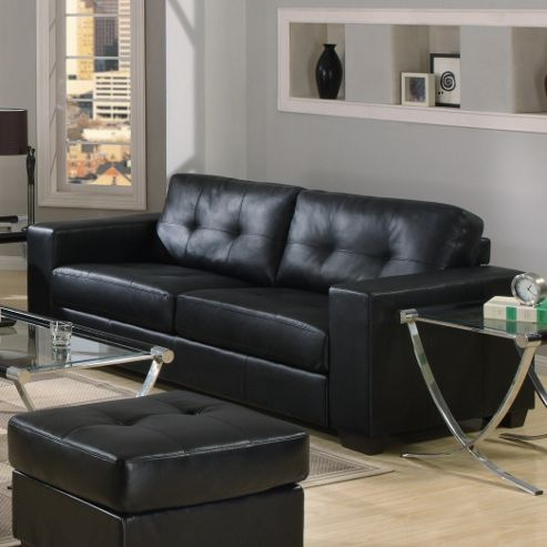 Furniture Link Gemona 3 Seater Sofa - Black
