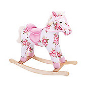 Bigjigs Toys BJ284 Floral Rocking Horse