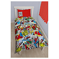 Marvel Comics Justice Rotary Single Bed Duvet Quilt Cover Set