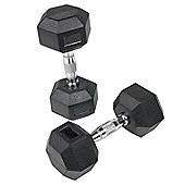 Body Power 1-10Kg Rubber Hex Dumbbell Set