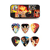 Jimi Hendrix Montage Pick Tin - 12 Picks - Heavy