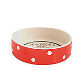 Mason Cash Cat Pet Bowl, Polka Dot Red