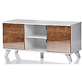 UKCF Seville White and Oak TV Stand for up to 52 inch TVs
