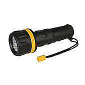 Silverline LED Rubber Torch 2 x D