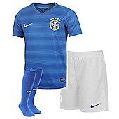 2014-15 Brazil Away World Cup Infants Kit - Blue