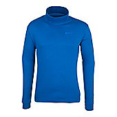 Meribel Mens Cotton Roll Neck Top - Blue