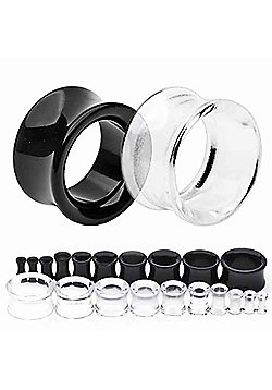 Urban Male Pack of Three UV Acrylic Ear Stretching Flesh Tunnels 6mm