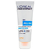 L'Oreal Men Expert All-In-1 Sensitive Cream 75Ml