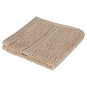 Tesco 100% Combed Cotton Face Cloth Taupe