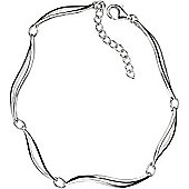 Silver Wave Link Bracelet