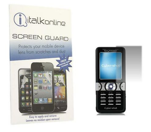 iTALKonline S-Protect LCD Screen Protector and Micro Fibre Cleaning Cloth - For Sony Ericsson K550i