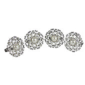 CIMC Home Antoinette 4 Piece Napkin Ring Set