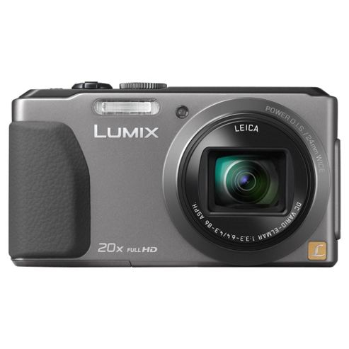 Panasonic Lumix TZ40 Digital Camera, Silver, 18MP, 20x Optical Zoom, 3