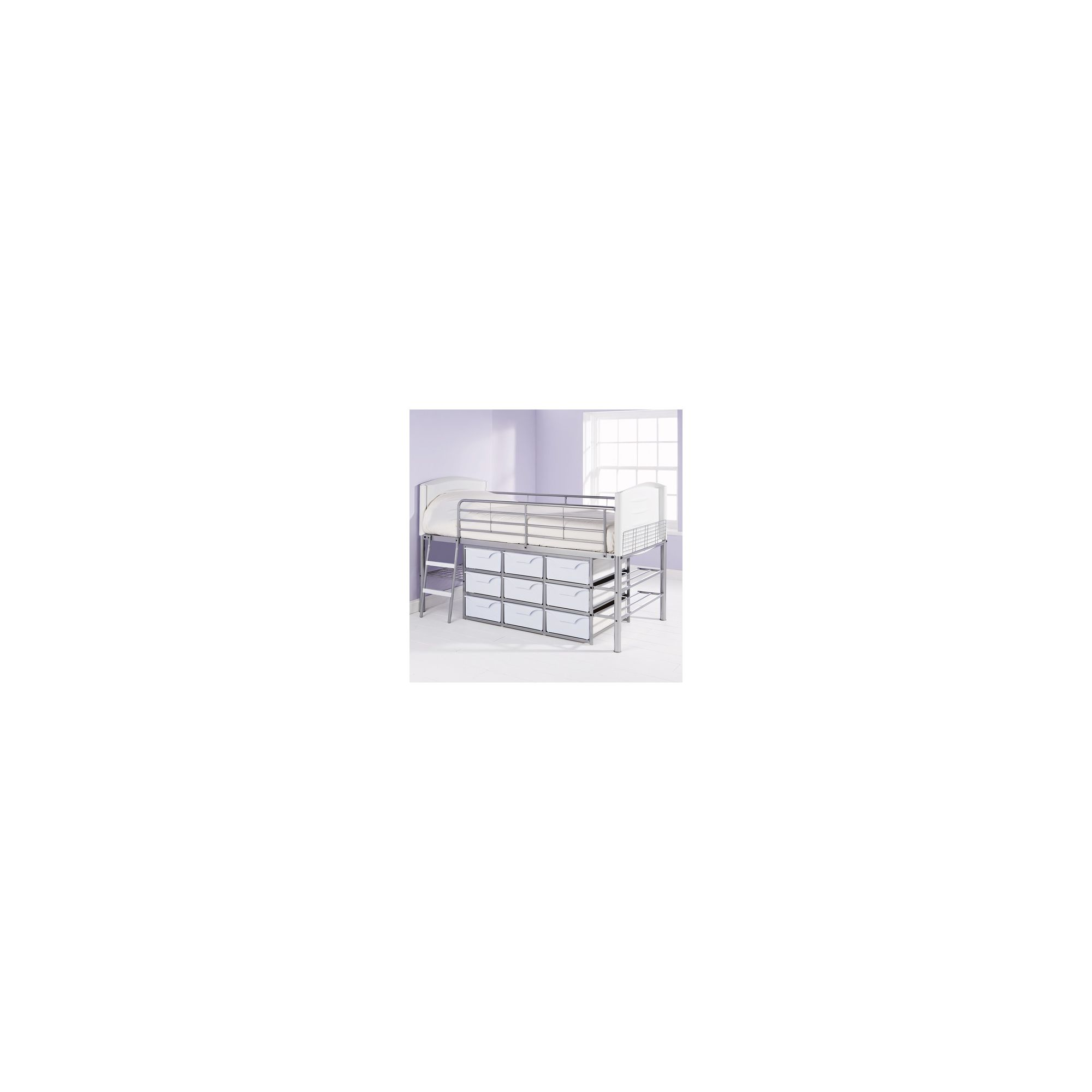 Elements High 9 Drawers Sleeper Bed - White at Tesco Direct