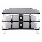 "LEVV 37"" TV Stand - Stainless Steel / Black"