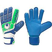 Uhlsport Fangmaschine Soft Blue Junior Goalkeeper Gloves - White
