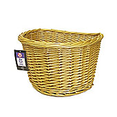 "Adie D-Shape 16"" Wicker Full Cane Front Basket"