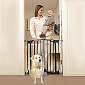 Bindaboo Easy Close Pet Security Gate Black