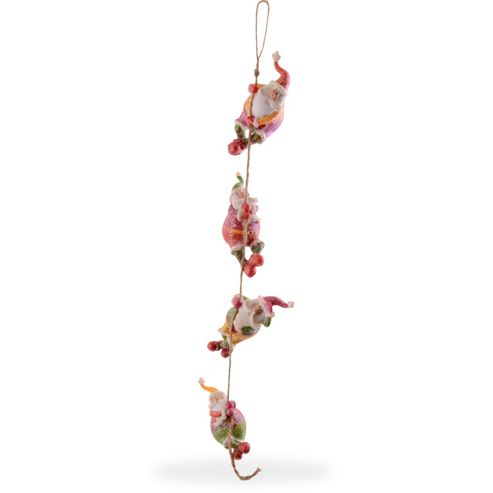 Climbing Father Christmas Garland Hanging Decoration Design A