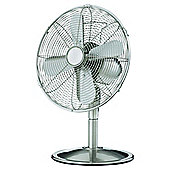 "Tesco 12"" inch metal Desk Fan"