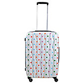 Tesco 4-Wheel Hard Shell Suitcase, Spotty Large