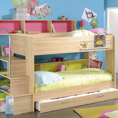 Buy Parisot Kurt Bunk Bed Beech Without Trundle from