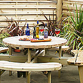 Pinic (heavy Duty) Round Garden Table with seats