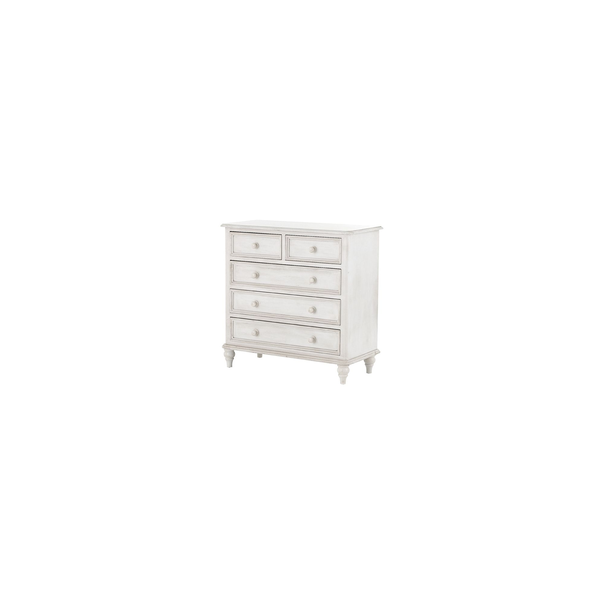 Thorndon Brittany 2 Over 3 Drawer Chest in Antique White at Tesco Direct