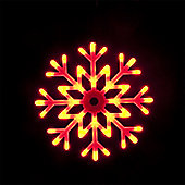 Illuminated Outdoor & Indoor 40cm/16in Colour Changing Snowflake with 48 LEDs