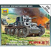 Zvezda - German Light Tank PZ.KPFW.38 (T) - 1:100 Scale 6130