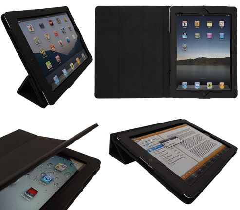 iTALKonline 19333 PadWear Executive Black Wallet Case With TRI-FOLD SMART TILT For Apple iPad 2 (Wi-Fi and 3G)