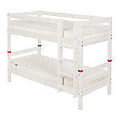 Flexa Classic Bunk Bed with Straight Ladder - White