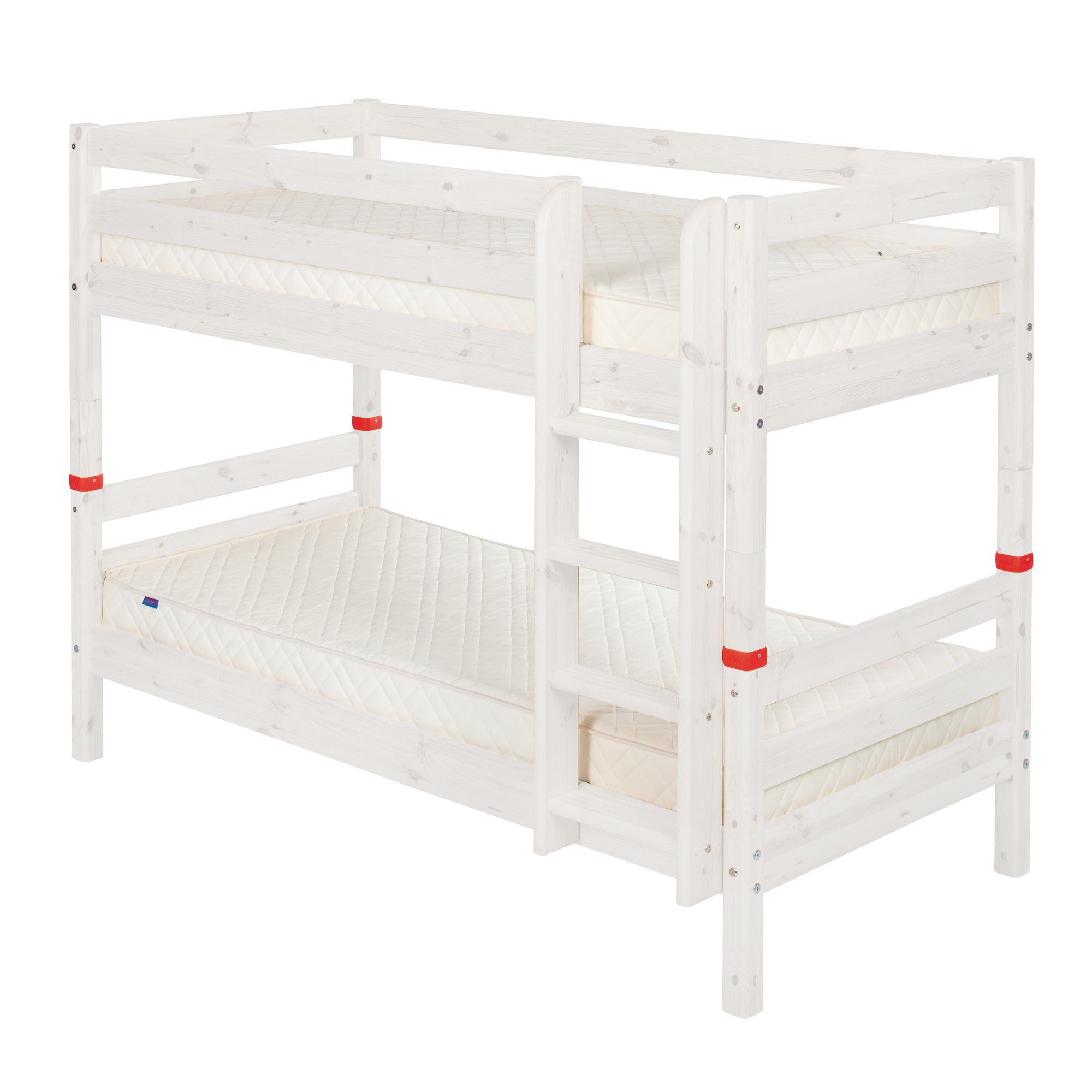 Flexa Classic Bunk Bed with Straight Ladder - White at Tesco Direct