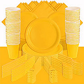 Sunshine Yellow Party Pack For 100