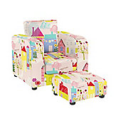 Chair with Footstool - Happy Houses