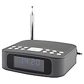 Tesco DCR1401G DAB Clock Radio Grey