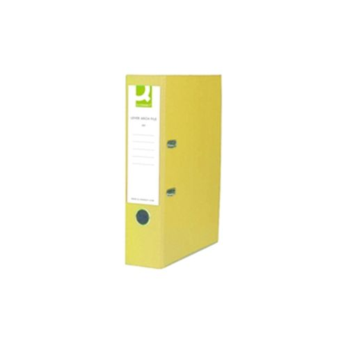 Q Connect A4 Paper Lever Arch File Backed Yellow