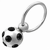 Urban Male 1mm Stainless Steel Nipple Ring With Stone Set Ball