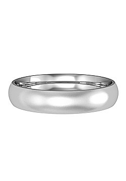 9ct White Gold 4mm Court Satin-Brushed Wedding Ring