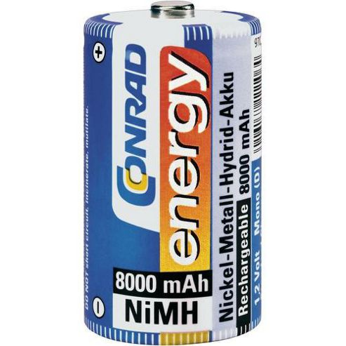 Conrad 250156 D Rechargeable Battery 1.2V NiMH 8000mAh
