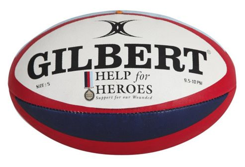 Gilbert Help For Heroes Rugby Ball