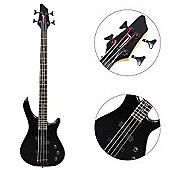 Rocket 4 String Electric Bass Guitar - Black